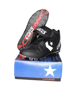 NOS Vintage 90s Converse  Round Tripper Mid Baseball Cleats Black Mens Size 12
