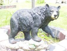 LARGE BLACK BEAR INDOOR/OUTDOOR STATUE LOG CABIN DECOR STROLLIN BEAR LOG CABIN
