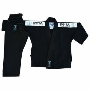 PMA Kids Elite Pearl Weave BJJ Gi Black Uniform 380gsm Jiu Jitsu Suit Childrens