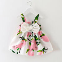 Baby Girl Princess Dress Infant Girls Sleeveless Cute Bowknot Party Gown Dresses