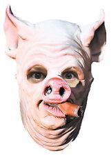 HALLOWEEN ADULT PIG OUT CIGAR MASK PROP