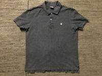 Brooks Brothers Adult Mens XL Performance Polo Shirt Slim Fit Short Sleeve Gray