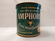 Douwe Egbert's Amphora Pipe Tobacco Tin Can Holland Extra Mild Cavendish Green