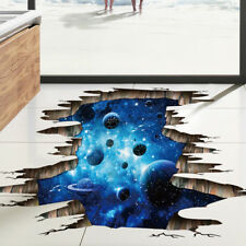 Galaxy Planet Space 3D Wall Sticker Children Bedroom Celling Floor Art Decal