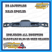 GO KART REAR BUMPER SPOILER KIT KG 3 PIECE ADJUSTABLE + ALL FIT-UP HARDWARE