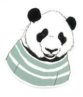 Adesivo calcomania sticker Panda Dimensioni cm 7,5x6 circa Forma segue silhouett