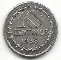 2ª Republica 10 Céntimos 1938 Hierro ( reproducción )