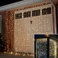 ConnectPro OUTDOOR GARDEN CHRISTMAS WEDDING CURTAIN LED FAIRY STRING LIGHTS
