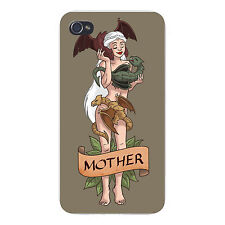 Mother of Dragons Medieval TV Show Parody FITS iPhone 4 4s Snap On Case Cover