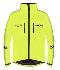 Mens Proviz Reflect 360 CRS Waterproof Cycling Jacket Yellow Size XL RRP £129.99