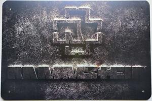 Blechschild RAMMSTEIN 30 x 20 cm Metallschild Vintage Nostalgie