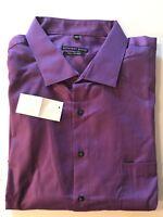 NWT Geoffrey Beene 20 35/36 Long Sleeve Regular Fit Men's Dress Shirt Purple