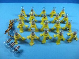 20 Stück Beleuchtungssockel 19V Spur H0/TT/N/G #L23