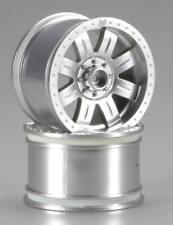 HPI 3263 Ringz Matte Chrome Wheels 83 x 56mm (2): Savage