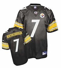 Pittsburgh Steelers Ben Roethlisberger #7 Reebok Replica Screened 5XL Jersey