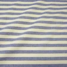 Stoff Meterware Baumwollstoff Streifen blau weiß Flanell gestreift  Webstreifen