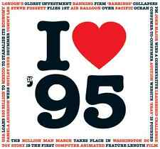 22nd Birthday Gift - I Love 1995 Compilation Brit Pop CD Greetings Gifts Card