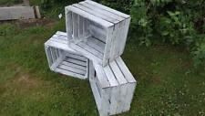 3 X blanco lavado Apple cajones envejecido-Cajas de Almacenamiento Caja Ikea alternativa!
