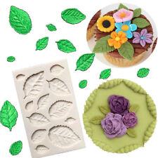 1pc Silicone Leaves Rose Embellisment Fondant Mould Cake Sugar Chocolate Mold