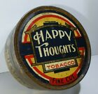 Very Old HAPPY THOUGHTS 2oz Fine Cut  ROUND tobacco tin Dudgeon Arnell MELBOURNE