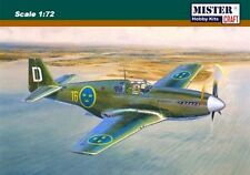 J 26 EARLY ( P-51 B MUSTANG - SWEDISH AF) 1/72 MISTERCRAFT LIMITED EDITION saab