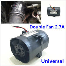 Car SUV Electric Turbo Double Fan supercharger Boost Intake Fans 2.7A Universal
