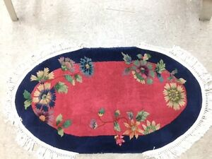 Chinese Rug ART DECO MASTERPIECE  red