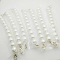 Women DIY Sweet Faux Pearl Beaded Handbag Strap Lady Purse Belts Bag Accessories