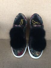 "Sam Edelman Womens Leya ""Black Bird"" Print Fashion Sneaker Size 6 1/2"