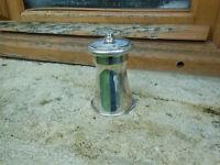 Ancien Moulin à poivre métal argenté Peugeot Frères poinçonné