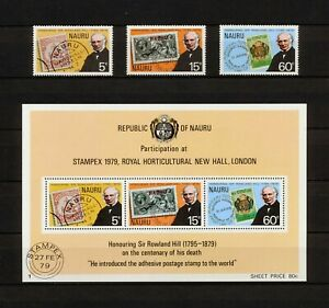 ✔️ (YYBD 067) Nauru 1979 MNH Mich 192 - 194 Bl 2 Scott 195 - 197a Rowland Hill