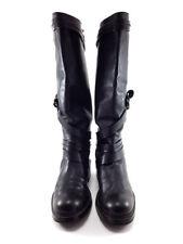 HOGAN Black Leather High Heels Boots, Women's Shoes Size US 6.5 / EU 36.5