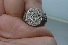 Handmade Masonic Freemason Knights Templar .925 Sterling silver signet ring