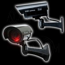 Kabellose CCTV Überwachungs Kamera Attrappe rotes LED Blink Licht Video Wireless