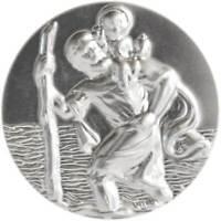 Heiliger St. Sankt Christophorus 3D Christopherus Plakette 30 mm Schutzpatron