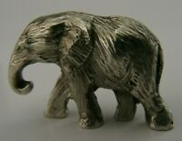 QUALITY ENGLISH STERLING SILVER MINIATURE ELEPHANT FIGURE LONDON 1973 23g