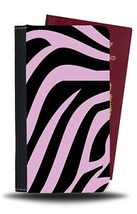 Pink Zebra Print Passport Holder Baby Black and Light Pattern Design Style b183