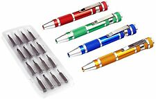 20pc Precision Screwdriver Set w/ Magnetic Bit Holders Slotted Phillips Hex Bits