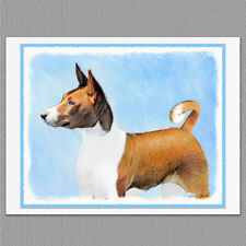 6 Basenji Dog Blank Art Note Greeting Cards