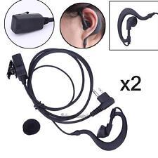 2Pcs 2-Pin Earpiece Headset Mic PTT for Motorola CP150 GP88S CLS1450CB RDU4160D