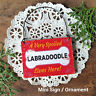 DecoWords Wood Dog Ornament Mini Sign * SPOILED LABRADOODLE Lives Here Gift USA