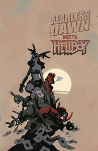 Fearless Dawn Meets Hellboy Comic 1 Cover B Variant Mike Mignola 2020 Mannion