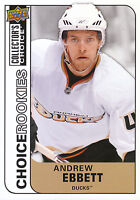 08-09 UPPER DECK COLLECTORS CHOICE ROOKIE RC #211 ANDREW EBBETT DUCKS *3022