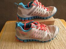 Reebok Realflex 3D Fuseframe Running Shoes Womens Size 6 Silver & Teal Blue EUC!