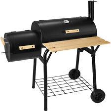 TecTake 400821 Grill Barbacoa para Carbón con Termómetro - Negro