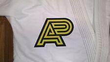Jiu Jitsu Gi Patch - Albino and Preto middle size patch(Black/Yellow)