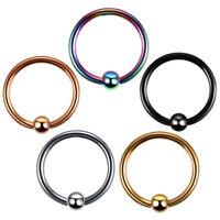 Nipple Ring Hoop Captive Bead Ball Surgical Steel Piercing CBR