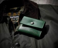 Barbour 120th Anniversary Leather Wallet Bifold Coin Purse Credit Card Case