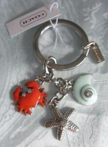 NWT Coach 62246 Beach Multi Mix Accessory Key Ring/ Key Fob/Charm Retired & Rare