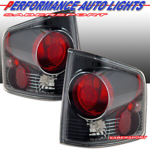 Set of Pair Black Taillights for 1994-2004 Chevy S10 Pickup GMC Sonoma Pickup